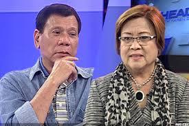 President Rodrigo Duterte and Sen. Leila de Lima