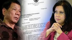 President Rodrigo Duterte and SC CJ Maria Lourdes Sereno