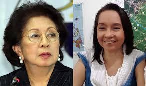 Ombudsman Conchita Carpio-Morales and former president Gloria Macapagal-Arroyo