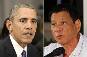 US President Barack Obama and President Rodrigo Duterte