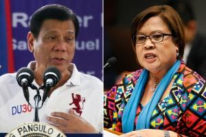 Archenemies President Duterte and Sen. de Lima