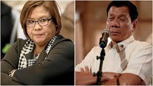 Sen. Leila de Lima and President Rodrigo Duterte