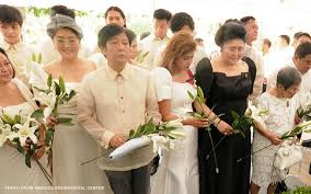 The Marcoses during the secret burial of the dictator: Irene, Bongbong, Imee, Imelda