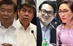Senators Drilon, Pangilinan, Aquino and Hontiveros